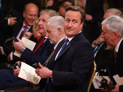 PM David Cameron, Labour Leader Jeremy Corbyn on the remembrance day 2015